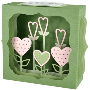 heart garden gift card box