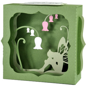 garden fairy gift card box