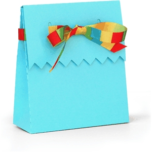 3d box ribbon tie zig zag flap box