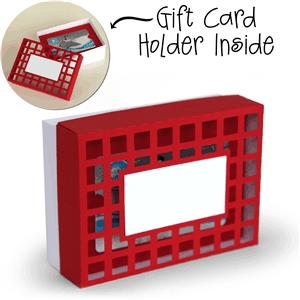 3d box gift card holder box - label top