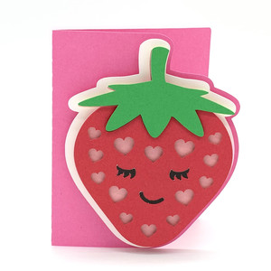strawberry and hearts card