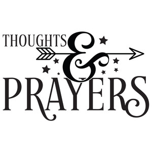 thoughts & prayers arrow quote
