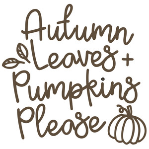 autumn leaves + pumpkins please