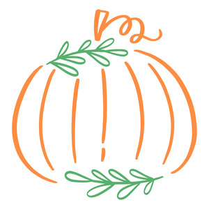 leafy pumpkin drawing