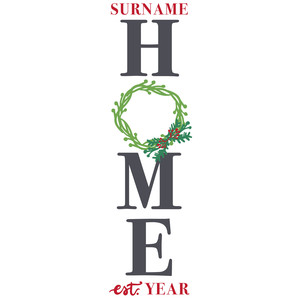 home wreath porch sign