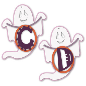 ghost tag c or d letter card