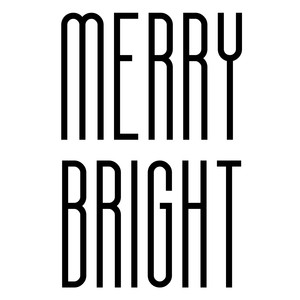 merry bright ornament words