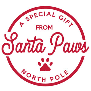 gift from santa paws label & tag