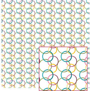 colorful rings pattern