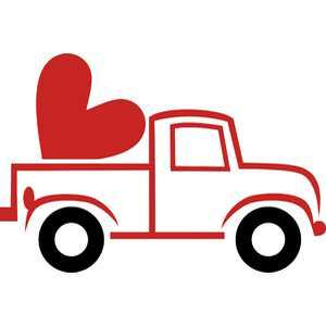 truck and heart