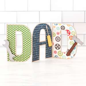 dad accordion fold card