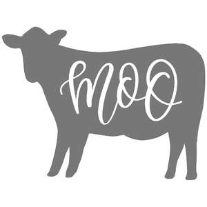 moo cow handlettered