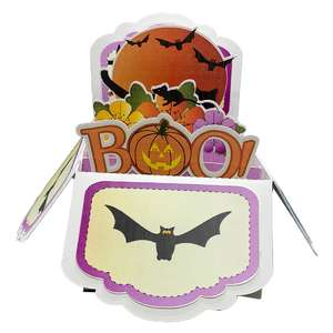 5x7 halloween popup card in a box