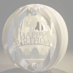 four layered pop up sphere birthday