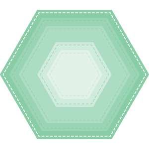 stitched hexagon nesting shape