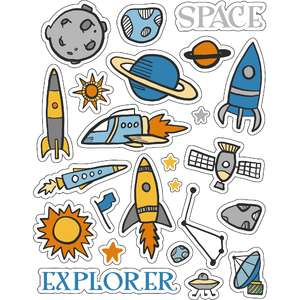 ml kid space stickers