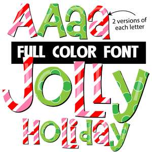 jolly holiday color font