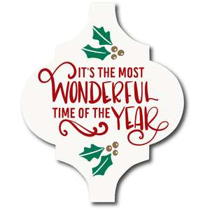 it's the most wonderful time of the year tile ornament