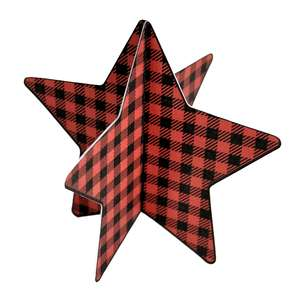 3d buffalo plaid star