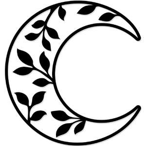 leafy crescent moon