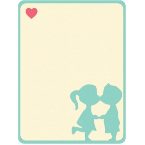 kissing couple journaling card