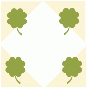 four leaf clover photo corners