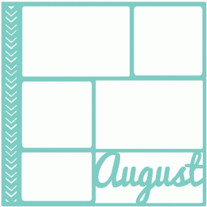 august scrapbook page / template / layout