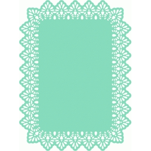 8.5 x 11 lace edge rectangle