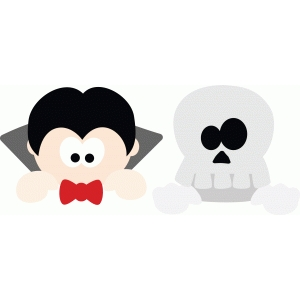 dracula and skeleton peekers