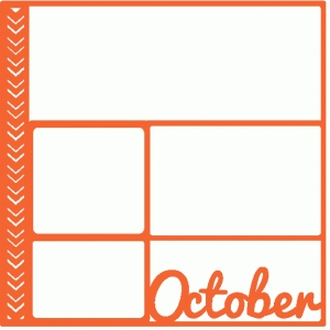october scrapbook page / template / layout