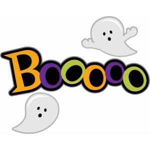halloween boo title with ghosts