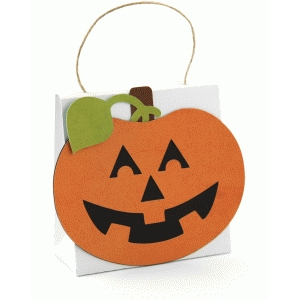 3d jack-o-lantern treat purse