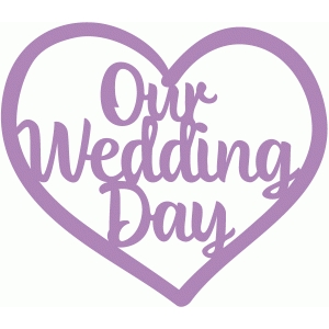 our wedding day heart