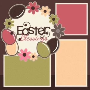easter blessings single scrapbook page kit