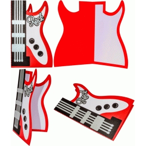 guitar rock card