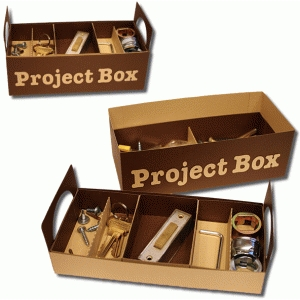 3d project box with tray