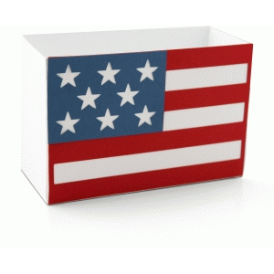 patriotic flag shaped box