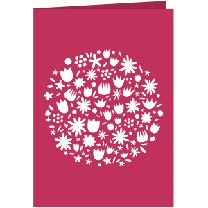 bouquet of flowers cutout 7x5 card