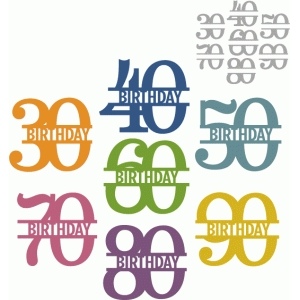 simple birthday split number 30-90