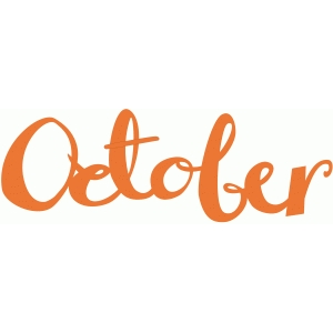 october word art