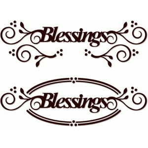 blessings flourished word art 2 styles