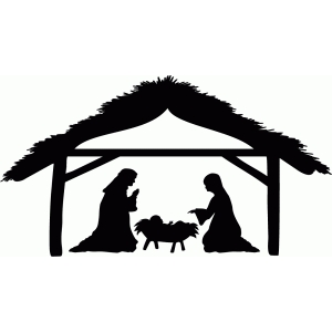 nativity with stable