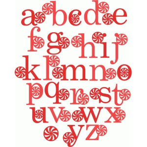 peppermint monograms lowercase