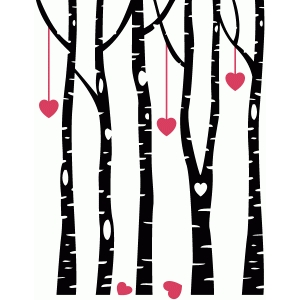 birch love forest