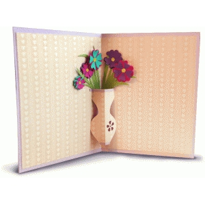 pop up card with vase