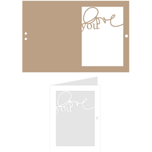 window ribbon card: love you.