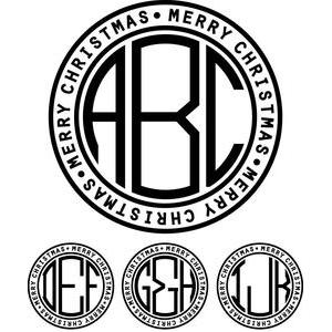 monogram basic -  merry christmas ring