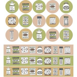 vintage spices planner stickers