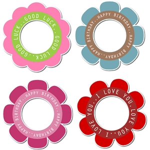 flowers with phrases set 2