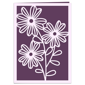 candy flower spring card